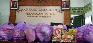 Lurah bersama #GASA Wirogunan Menunaikan Amanah Bantuan dari Mahasiswa UAD Yogyakarta